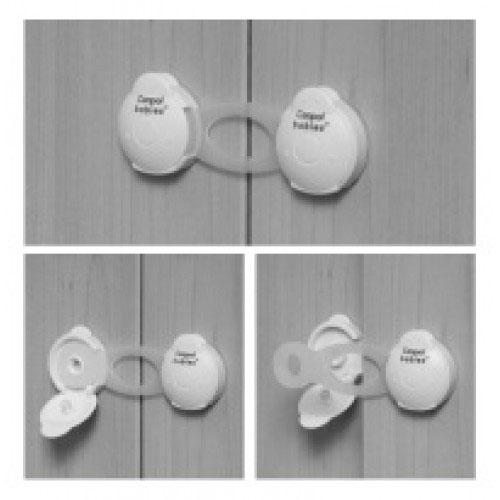 canpol babies Canpol Babies Многофункциональный замок от детей короткий - 2шт, белый (74/010-1)
