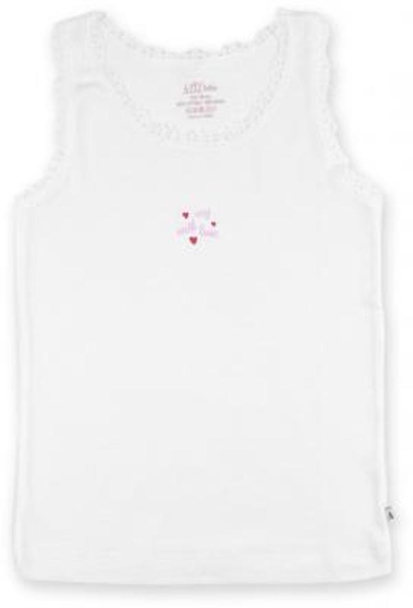 aziz AZIZ с сердечками белая в комплекте с трусиками (079006-80/G-white)