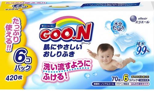 goo.n GOO.N для чувствительной кожи(6 мягких сменных блоков по 70 шт) (733549)