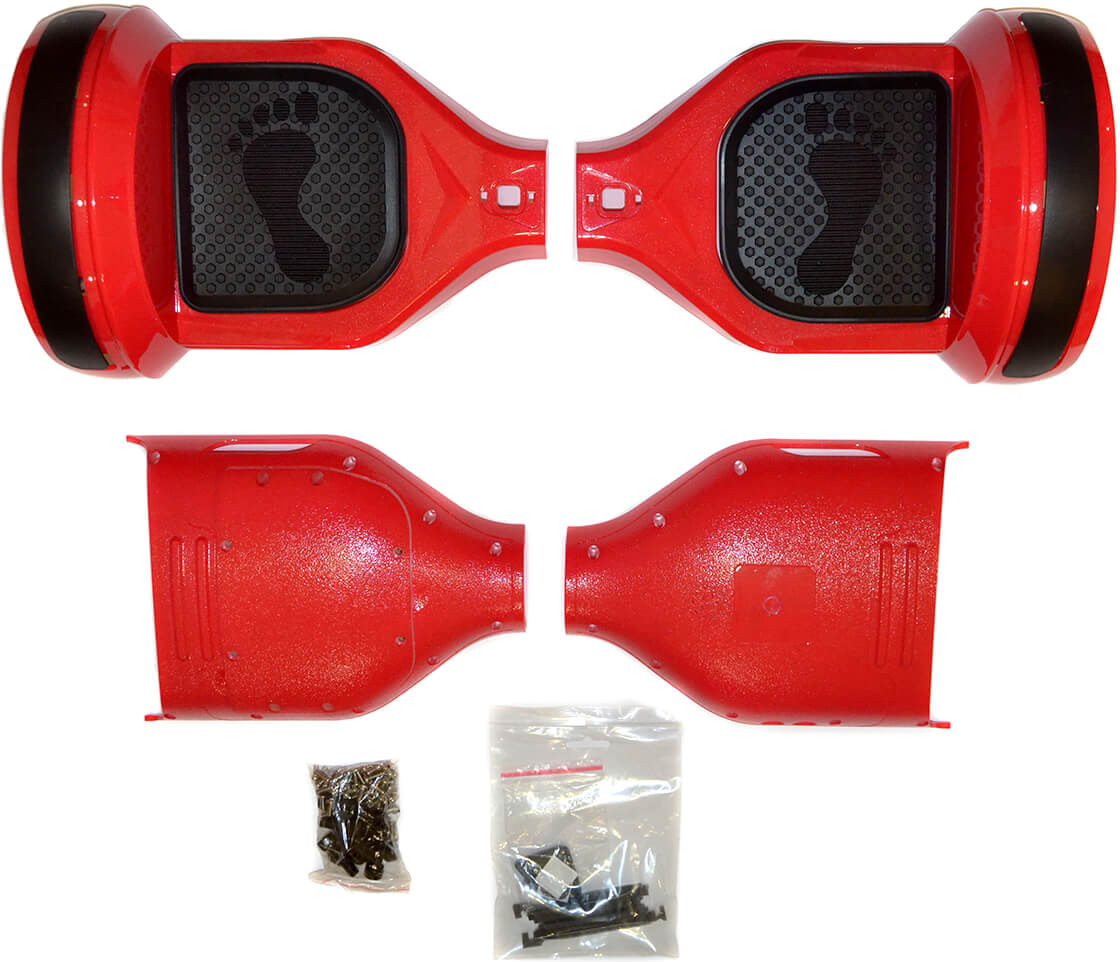 just JUST Step&Go 8 Red (shells,light covers,screws,foot pads) (HS-8RD)